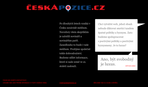 Web České pozice před spuštěním obsahu (repro: ceskapozice.cz)