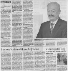 """""""Rozhovor"""" s Přemyslem Sobotkou, Liberecký deník, 22. října 2010"""