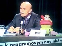Jiří Janeček na úterní tiskové konferenci k novinkám na ČT1