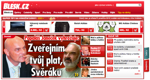 Janeček a Svěrák v Blesku