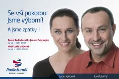 Lucie Výborná a Jan Pokorný se vracejí na Radiožurnál, i do kampaně (foto: Český rozhlas)