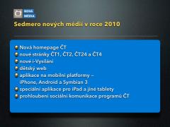 Sedmero nových médií ČT