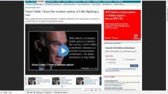 Vince Cable v Telegraphu (repro: telegraph.co.uk)