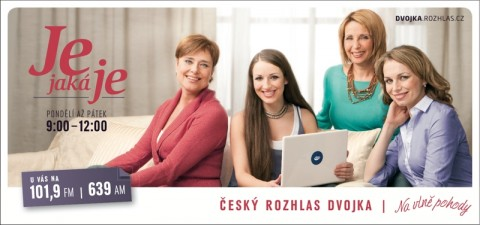 Český rozhlas Dvojka: Je jaká je (billboard)