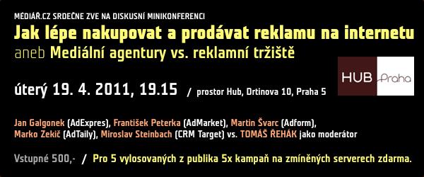 Banner konference o internetové reklamě