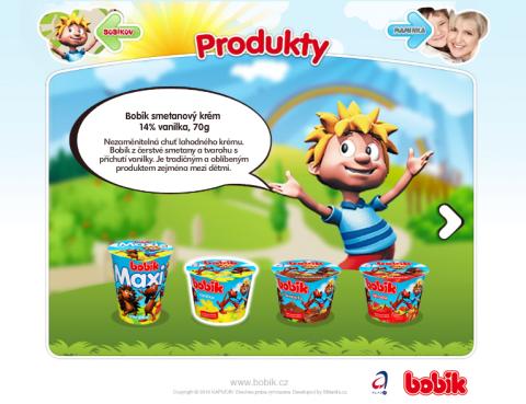 Produktový web smetanového krému Bobík.cz využívá tytéž postavičky, jako nejsledovanější video na YouTube v češtině