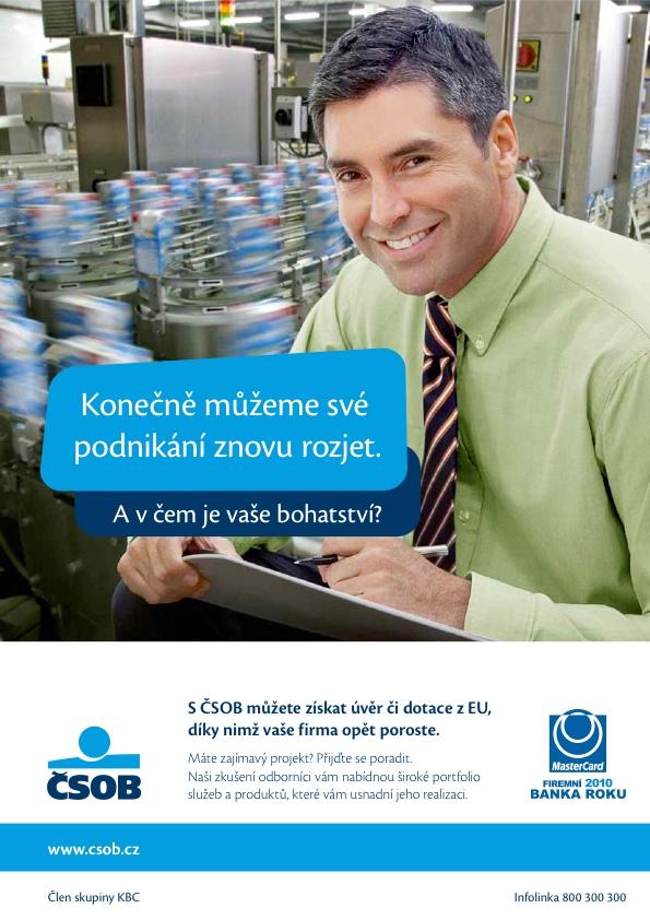 ČSOB: Podpora malých a středních podniků