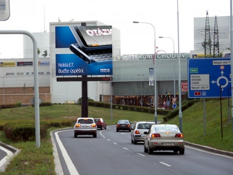 Double bigboard s kampaní na Nokia E7. Foto: Nokia