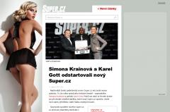 Super.cz zjednodušil vzhled