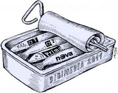 Téma Digimedia 2011 v kresbě Jiřího Slívy