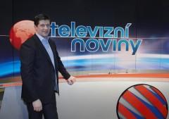 Jan Andruško ve studiu Televizních novin. Foto: TV Nova