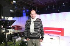 Programový ředitel Marek Vítek ve studiu Metropol TV