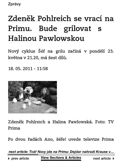 Médiář.cz na Kindlu: Výpis článku