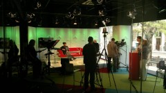 Metropol TV: Eva Jurinová natáčí pořad Na vrcholu
