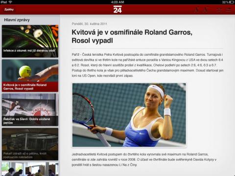 Jak má vypadat zpravodajství ČT24 pro iPady