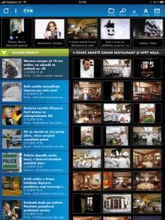 Aplikace ČTk pro iPad