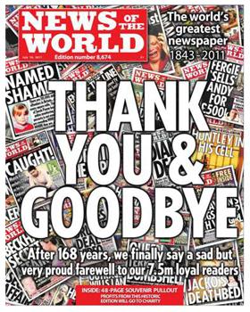 Poslední číslo News of the World