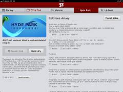 Hydepark na iPadu