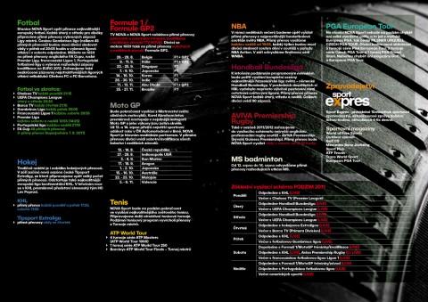 Přehled chystaných přenosů na Nova Sport na podzim 2011