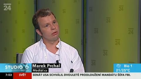 Marek Prchal ve vysílání ČT24