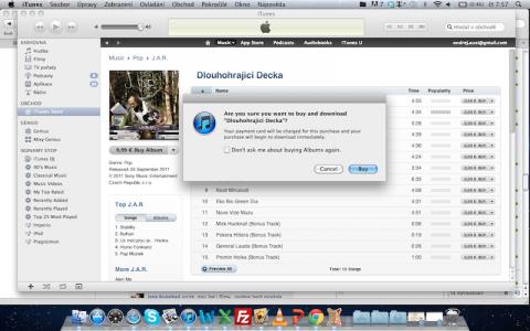 Nákup v českých iTunes