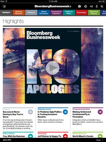 Bloomberg Businessweek+ pro iPad
