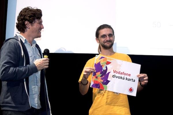 Divokou kartu Vodafonu dostala aplikace BigLauncher (prezentoval ji Jan Husák, vpravo), u diváků skončila druhá. Foto: Ivana Dvorská