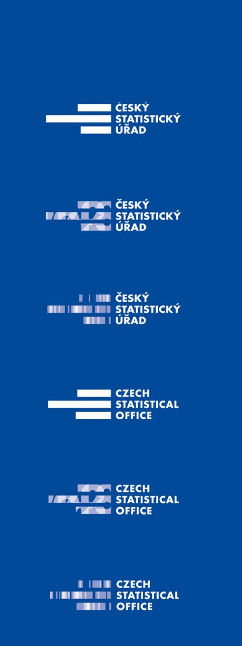 Logo ČSÚ inverzní
