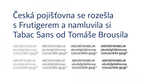 Česká pojišťovna: Nové korporátní písmo