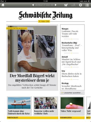 Schwäbische Zeitung pro iPad
