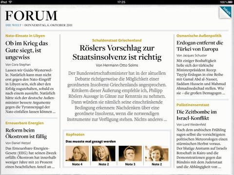 Die Welt pro iPad
