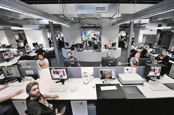 Integrovaný newsroom Blesku a Aha!, část vyhrazená Aha!