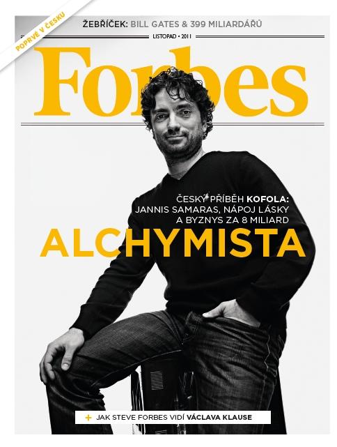 Obálka 1. číslo českého Forbesu