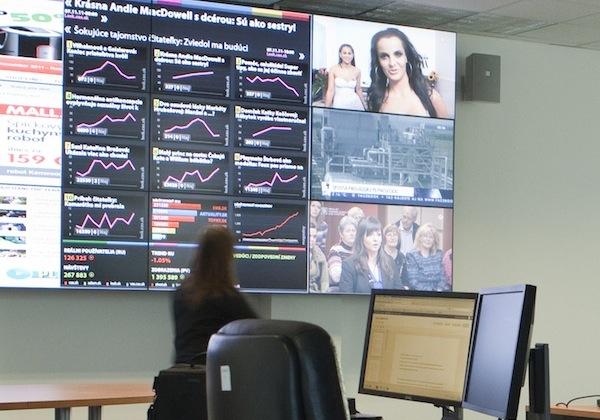 Integrovaný newsroom ve slovenském Ringieru. Foto: Ringier