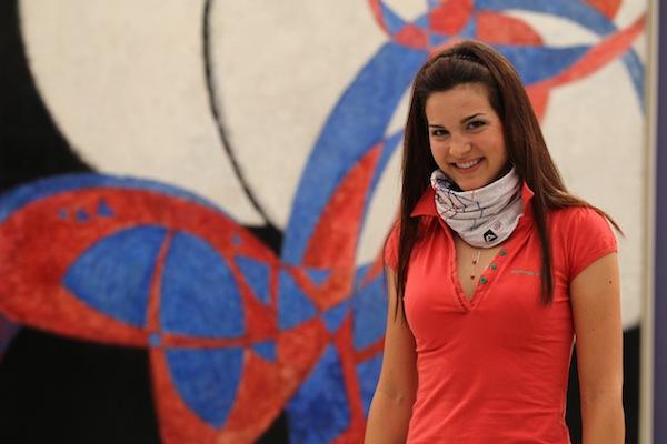 Tereza Huříková je první sportovkyní, která oblékla nový šátek