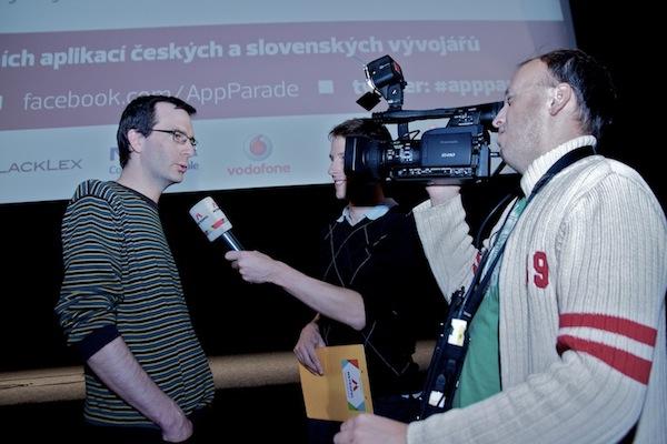 O akci se zmínila televize: na místě natáčela a z Bia Oko živě reportovala pražská TV Metropol. Foto pro Médiář.cz: Ivana Dvorská