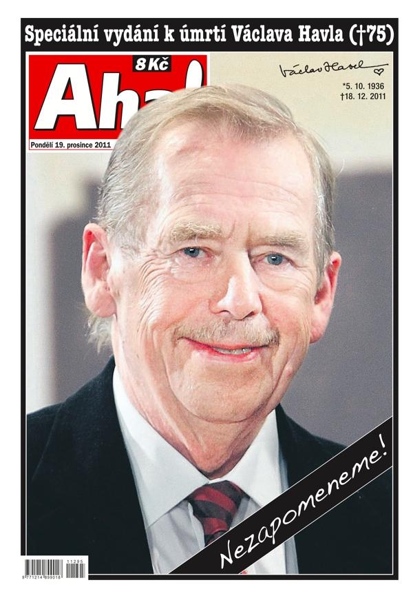 Titulní strana Aha!, 19. prosince 2011