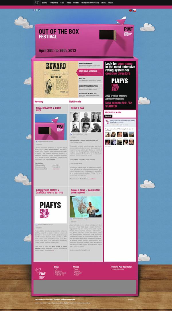Web PIAF, denní verze