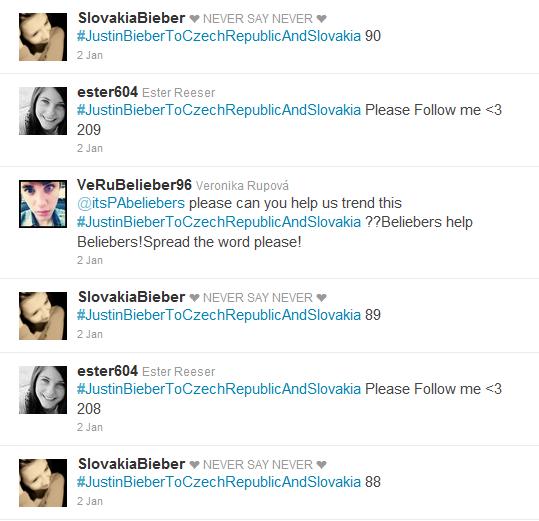 Justin Bieber na Twitteru