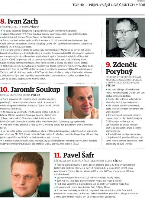 Forbes: Zach, Porybný, Soukup, Šafr