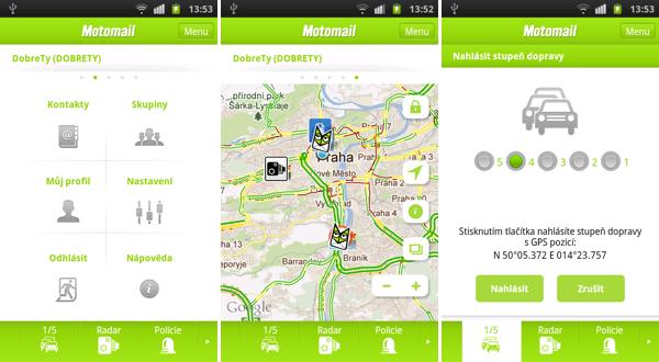 Nová podoba mobilních aplikací Motomail
