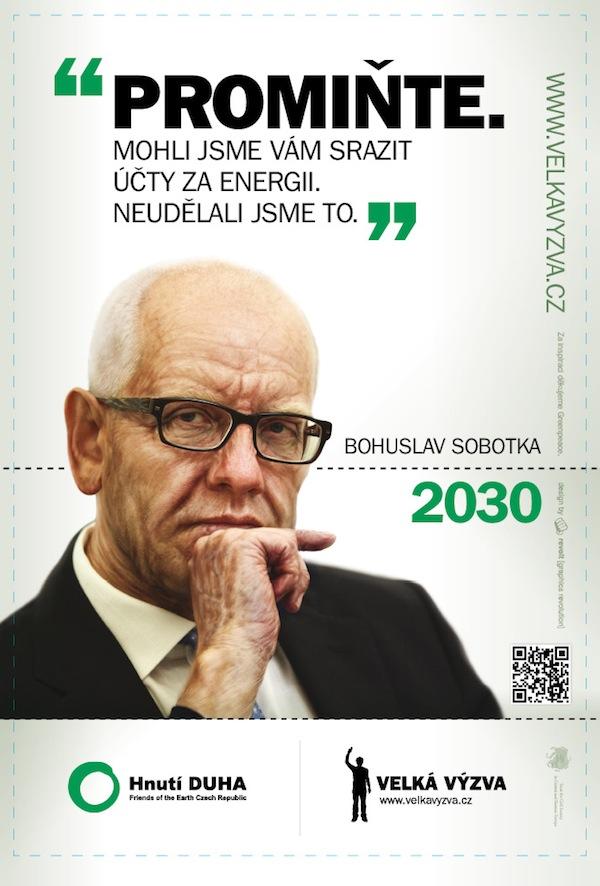 Bohuslav Sobotka v kampani Hnutí Duha