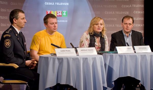 Tisková konference České televize k projektu Krizová mapa Česka. Foto: ČT