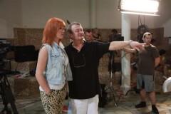 Režisér Jiří Adamec při natáčení silvestrovské show Primy. Foto: TV Prima