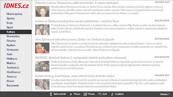 iDnes.cz v televizorech Samsung