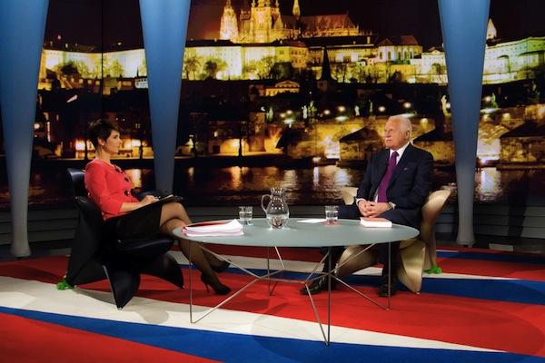Václav Klaus v debatě Novy. Foto: TV Nova