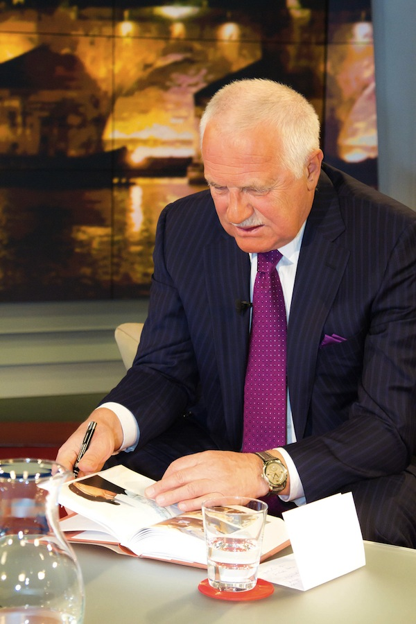 Václav Klaus zpropagoval knihu Rok devátý. Foto: TV Nova