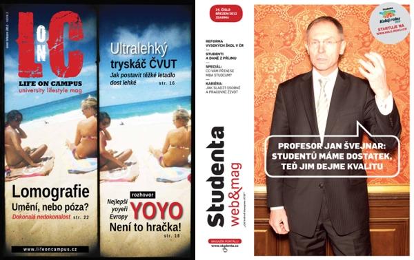 Časopisy Life on Campus a Studenta