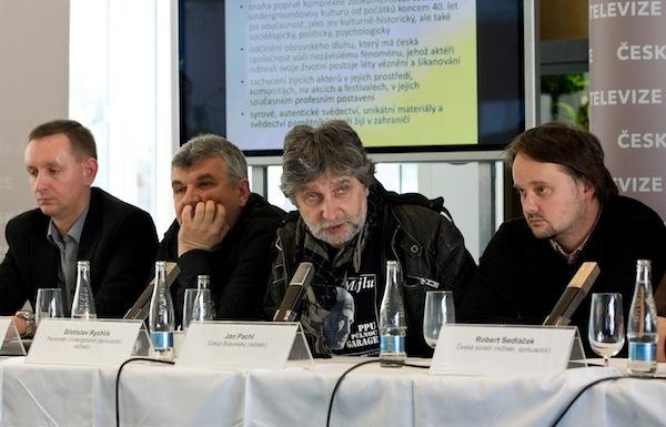 Václav Myslík, Čestmír Franěk, Břetislav Rychlík, Jan Pechl. Foto: ČT