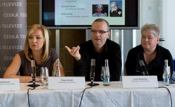 Tereza Vrabelová (Kopáčová), Pavel Anděl, Lucie Konečná. Foto: ČT
